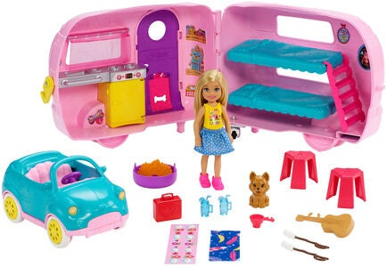 Barbie Club Chelsea Docka With Camper & Accessories