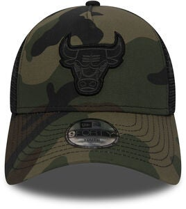 New Era Trucker Kids Chicago Bulls Keps, Woodland Camo Black