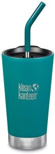 Klean Kanteen Insulated Tumbler med Sugrörslock 473ml, Emerald Bay