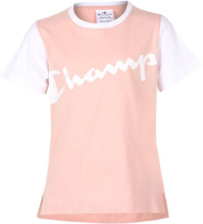 Champion Kids Crewneck T-Shirt, Cameo Rose