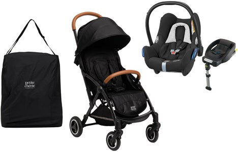 Petite Chérie Avion Air 2020 inkl. Maxi Cosi Travelsystem & Travelbag, Carbon Black Melange
