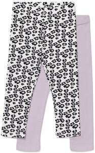 Luca & Lola Alberta ¾ Leggings 2-Pack, Purple/White