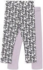 Luca & Lola Alberta Leggings 2-Pack, Purple/White
