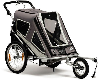 North 13.5 Speeder Cykelvagn, Grey Inkl. Skidset