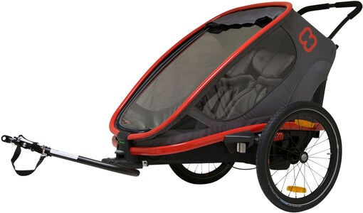 Hamax Outback Reclining Cykelvagn 2019, Red/Charcoal