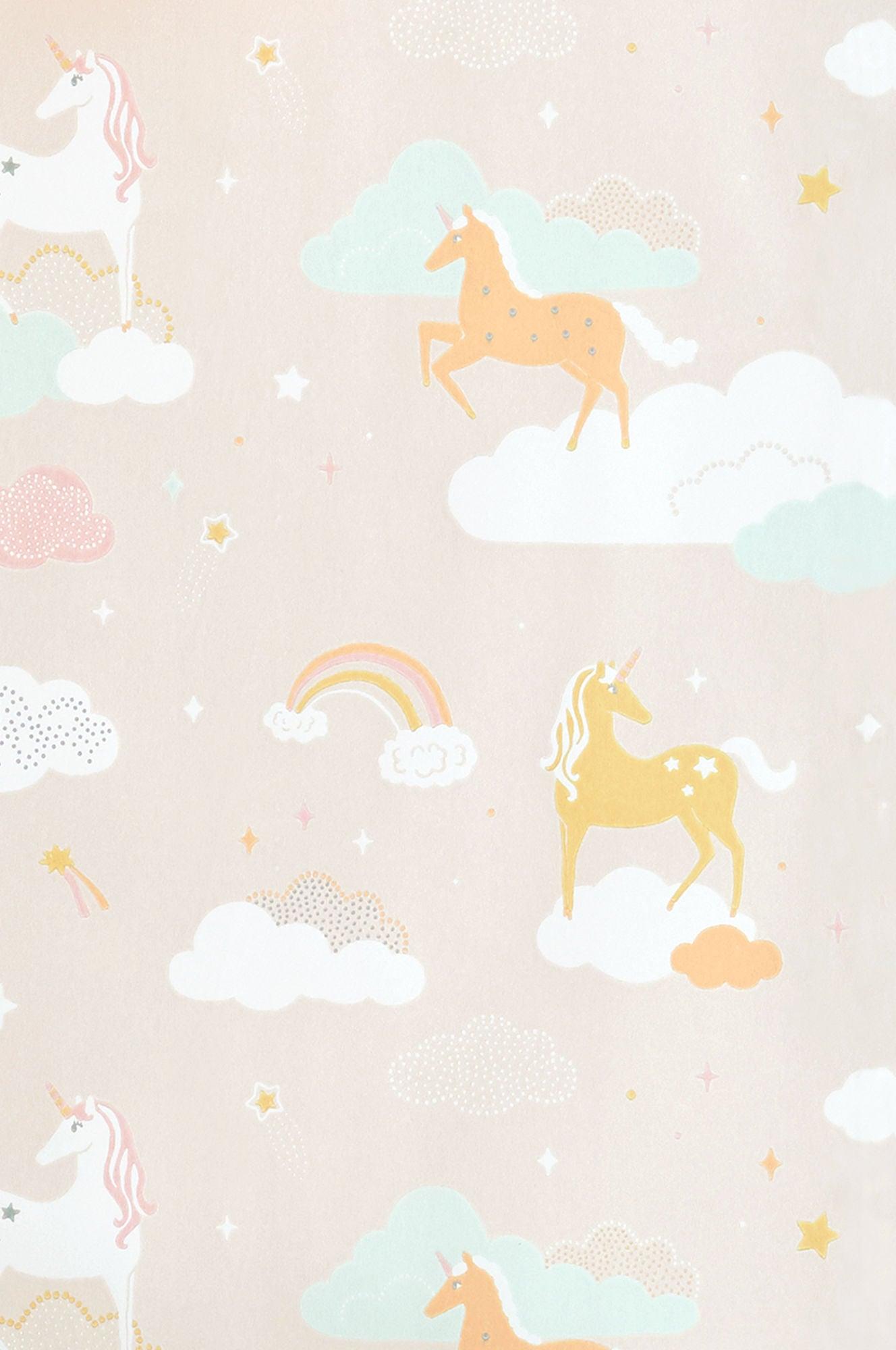 Majvillan Tapet Rainbow Treasures, Lovely Pastel Pink