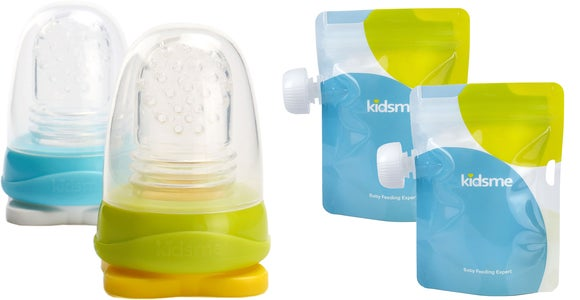 Kidsme Reuseable Food Pouch, 8x180ml Inkl. Adaptor