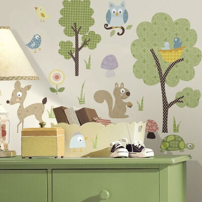 RoomMates Wallstickers Woodland Animals