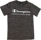 Champion Kids Crewneck T-Shirt, New Charcoal Grey Melange Dark