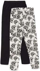 Luca & Lola Agata Leggings 2-pack, Black/Cats