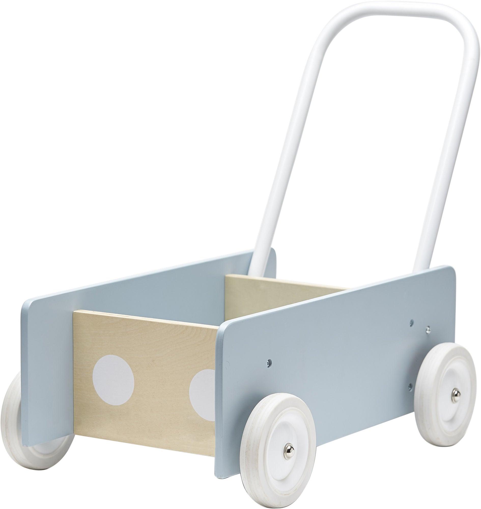 Kids Concept Lära-Gå-Vagn, Blå