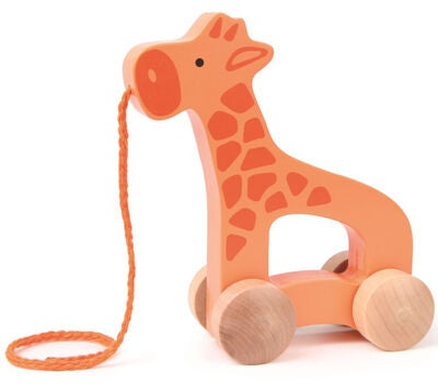 Hape Toys Dragleksak Push and Pull Giraffe