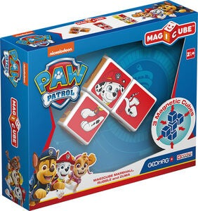 Geomag Byggsats Magicube Paw Patrol Marshall, Rubble and Zuma
