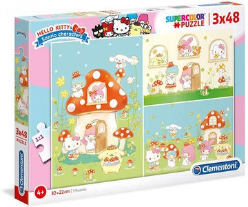 Hello Kitty Pussel 3x48 Bitar