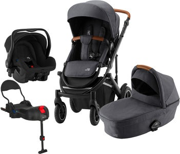Britax Smile III Duovagn Inkl Primo Travelsystem, Midnight Grey