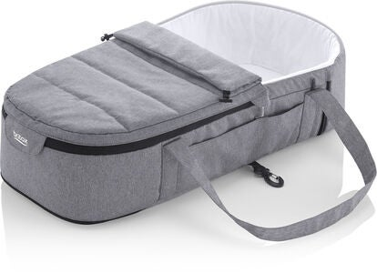 Britax GO BIG Mjuklift Soft Carrycot, Grey Melange