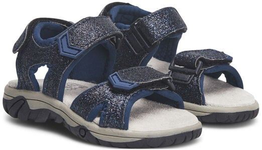 Little Champs Race Glitter Sandaler, Navy
