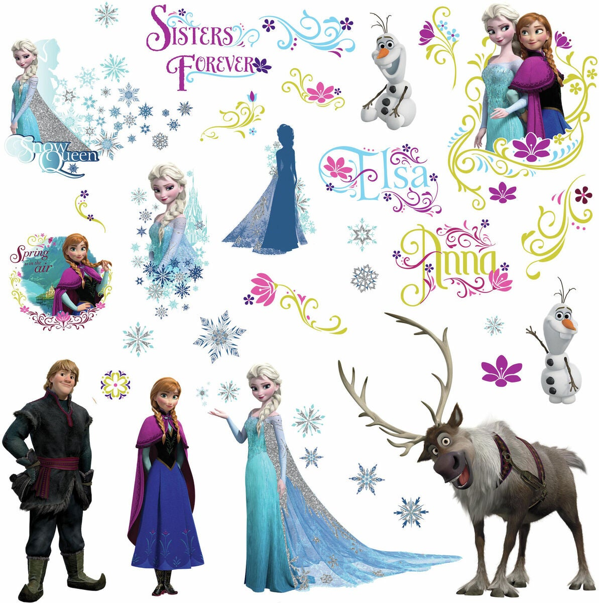RoomMates Wallsticker Disney Frozen