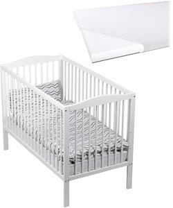 JLY Dream Spjälsäng med BabyMatex Softi Madrass 60x120, Vit