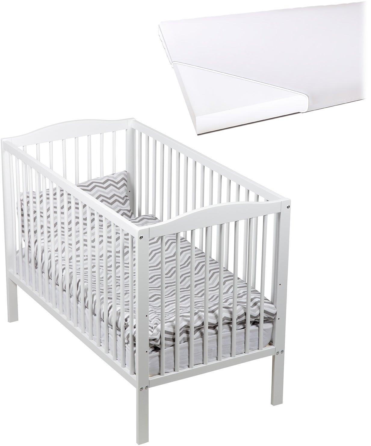 JLY Dream Spjälsäng med BabyMatex Softi Madrass 60x120, Vit