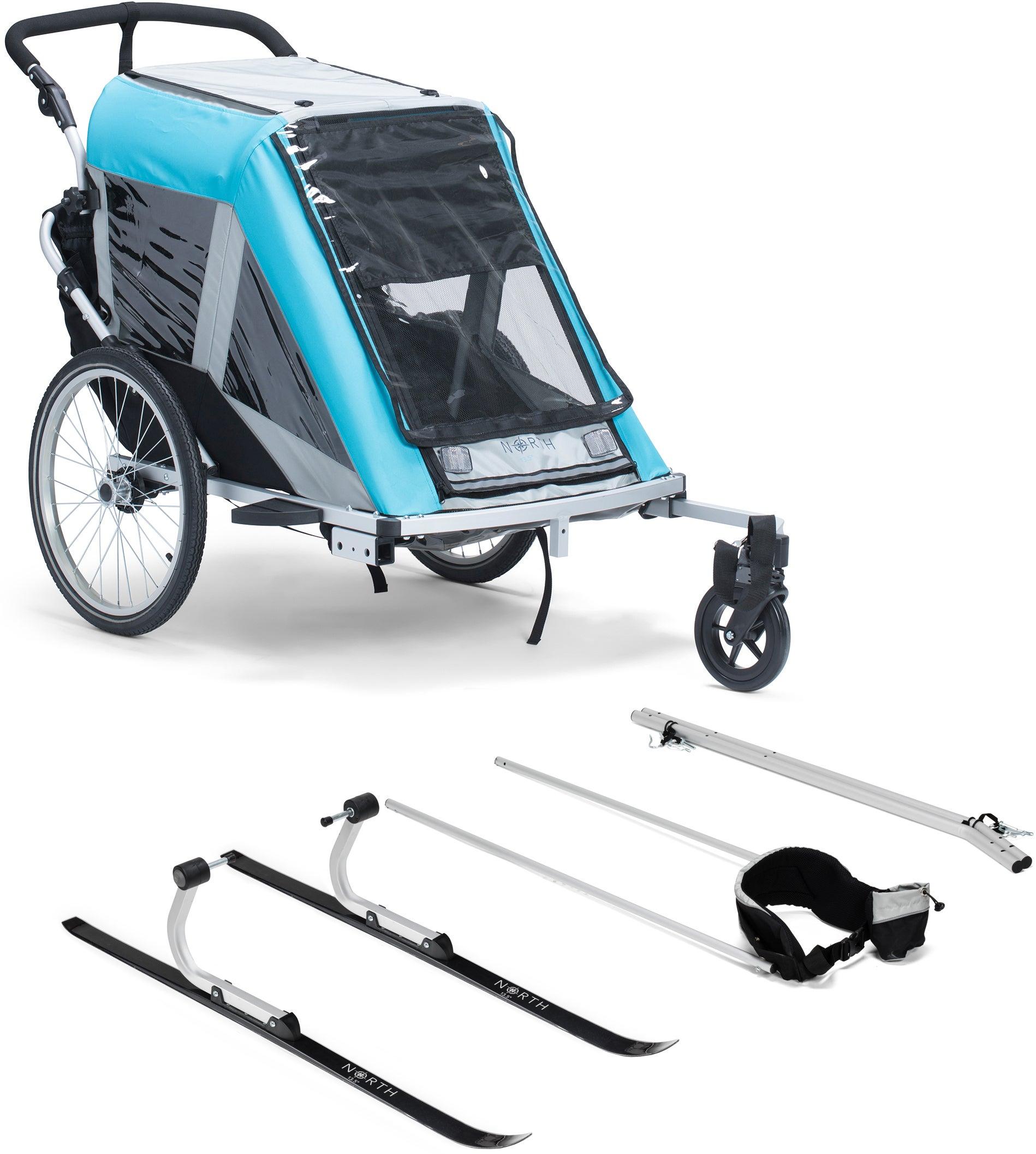 North 13.5 Roadster+ Cykelvagn, Blue Inkl. Skidset