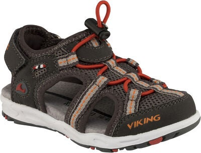 Viking Thrill Sandal, Charcoal/Red