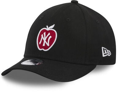 New Era MLB 9Forty Kids Keps, Black/White Scarlett