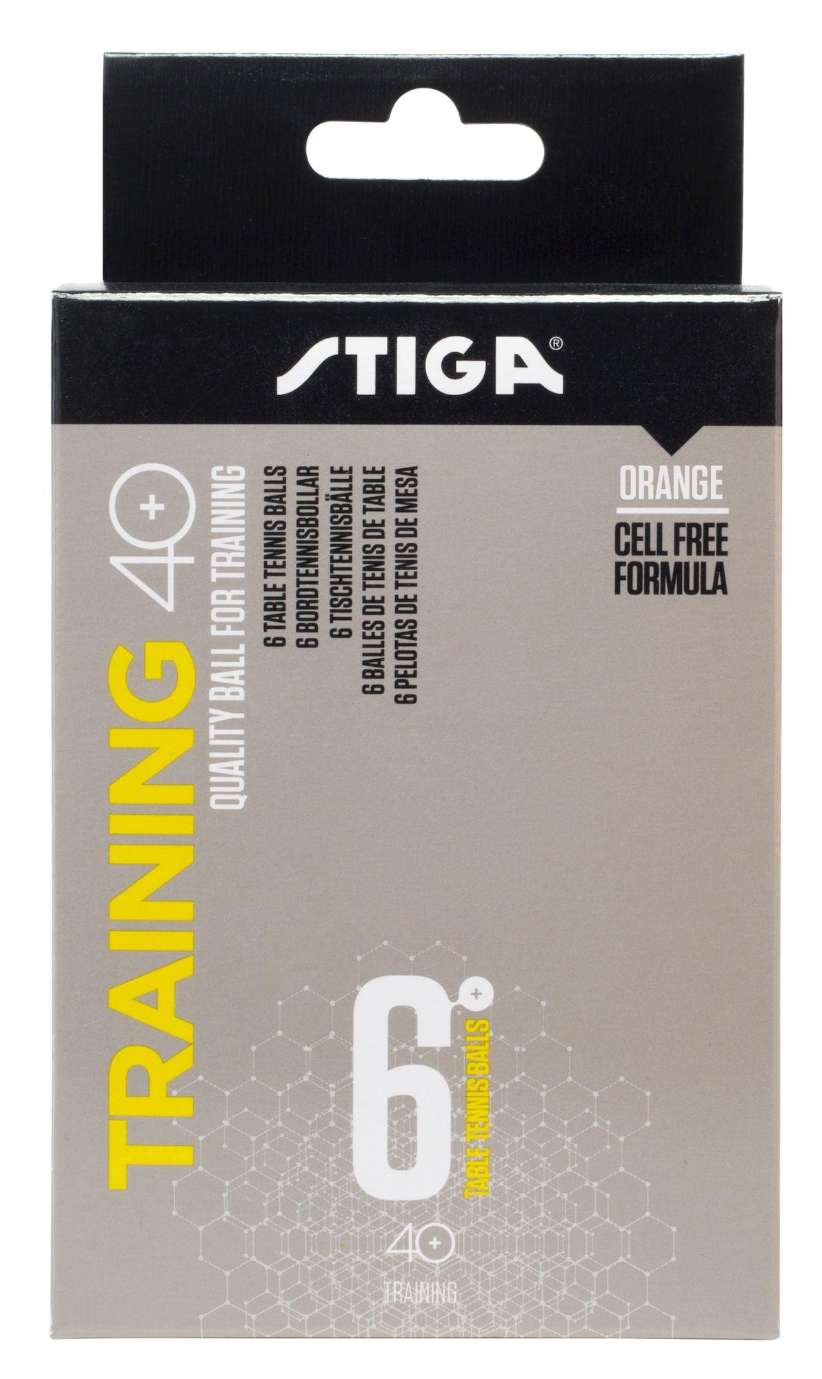 STIGA Bollar Bordtennis Training ABS 6-pack, Orange