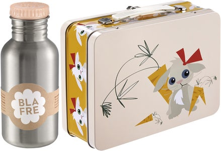 Blafre Koffertbox Rabbit & Stålflaska 500 ml, Peach