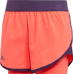 Adidas Girls Club Shorts, Coral