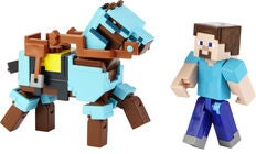 Minecraft Comic Maker Figur Steve + Häst
