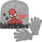 Marvel Spider-Man Set Mössa Vante, Light Grey