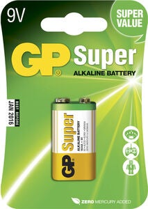 GP Batterier Super Alkaline 9V 6LF22 1-pack