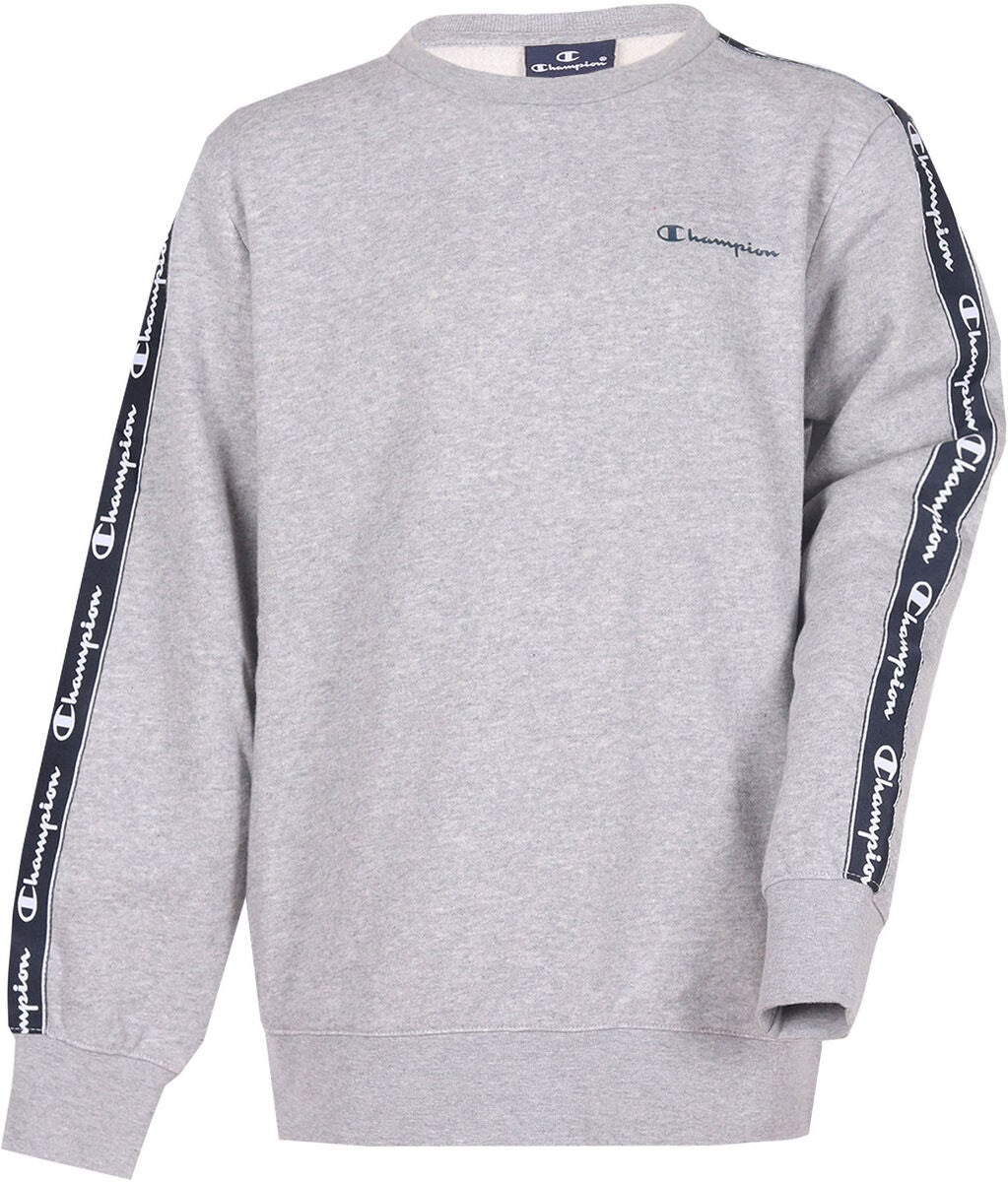 Champion Kids Crewneck Tröja, Grey Melange Light