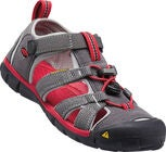 KEEN Seacamp II CNX Youth Sandal, Magnet/Racing Red