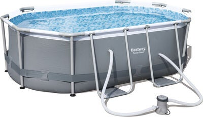 Bestway Power Steel Oval Pool m. Tillbehör 300 x 200