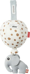 Done By Deer Speldosa Ballong Dots, White/Gold