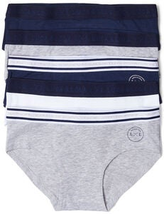 Luca & Lola Claudia Hipstertrosa 5-pack, Navy/Grey