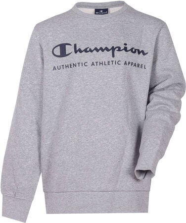 Champion Kids Crewneck Tröja, Gray Melange Light