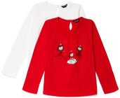 Luca & Lola Martina Topp 2-pack, Red/White