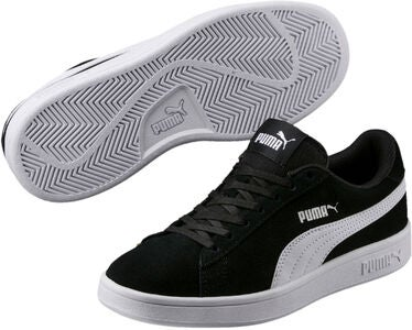 Puma Smash V2 SD Jr Sneaker, Black/White