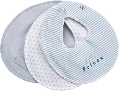 Pippi Basic Bib 3-pack, Baby Blue