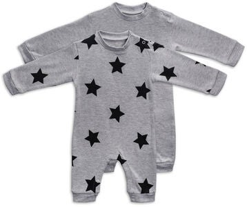 Tiny Treasure Maxime Jumpsuit 2-Pack, Grey Melange