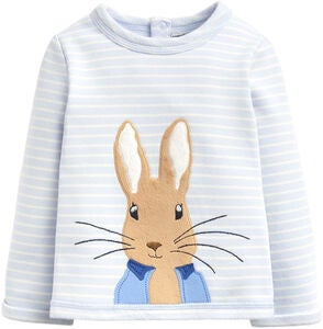 Tom Joule Dash Applique Tröja, Blue Stripe Peter Rabbit