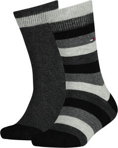 Tommy Hilfiger Basic Stripe Strumpa 2-Pack, Black