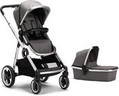 Beemoo Twin Travel+ 2019 Duovagn, Dark Grey