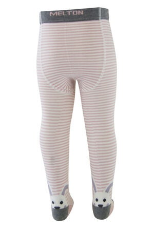 Melton Leggings Bunny on Back, Wild Rose