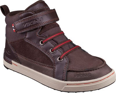 Viking Moss MID Sneaker, Dark Brown/Red