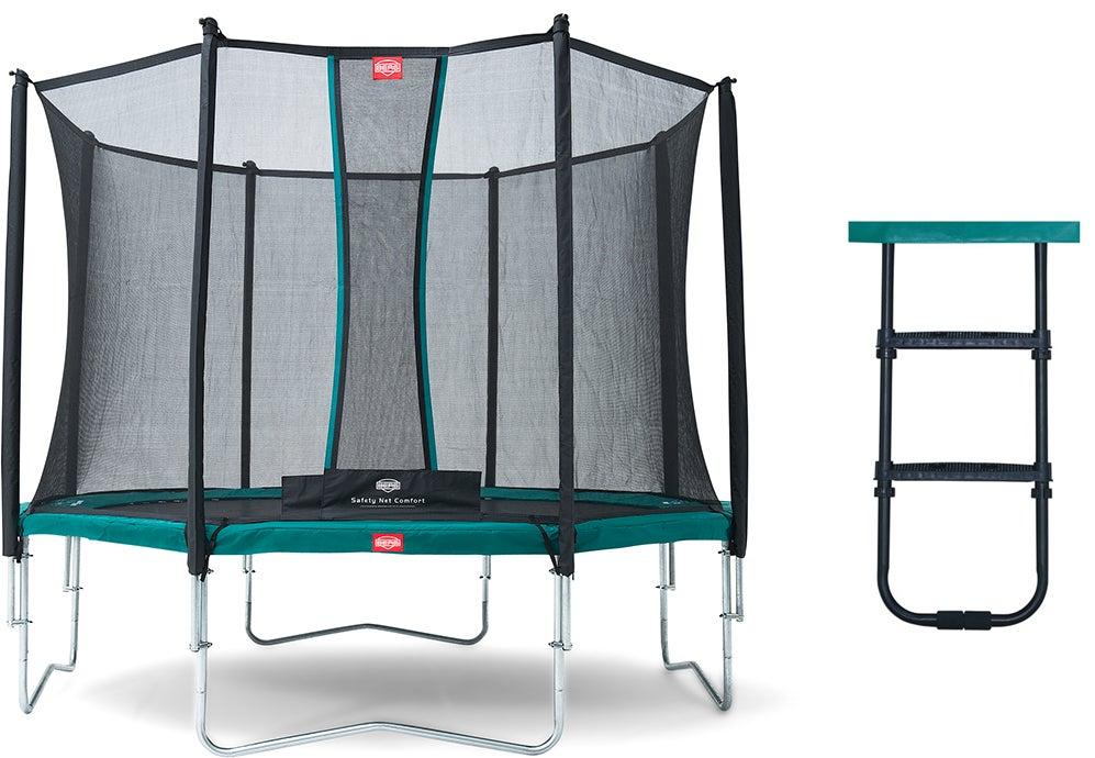 BERG Studsmatta Favorit 380 inkl Skyddsnät Comfort & Stege