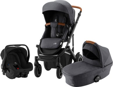 Britax Smile III Duovagn Inkl Primo Babyskydd, Midnight Grey